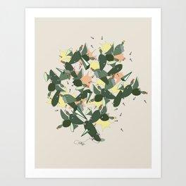 Cacti Explosion - Abstract Digital Print Art Print