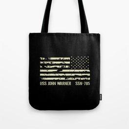 USS John Warner Tote Bag
