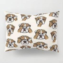 No Evil English Bulldog Pillow Sham