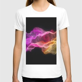 Rainbow satin T-shirt