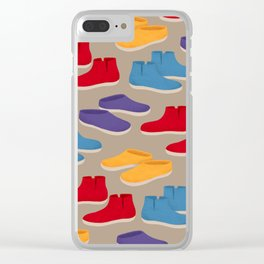 Comfy Glerups Slippers Clear iPhone Case