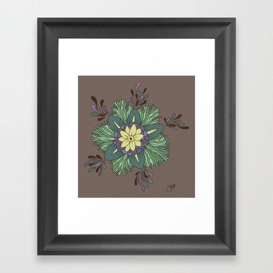 Sea Blossom Framed Art Print