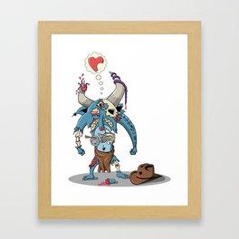 Walking Devil Framed Art Print