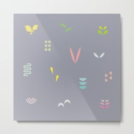 Abstract Leaf Metal Print