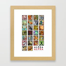 Alpha Alpha: A Very Monozorro Alphabet Framed Art Print