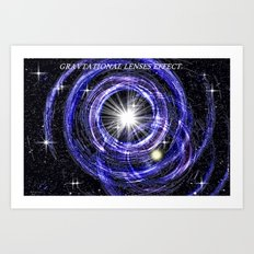 Gravitational lenses effect. Art Print
