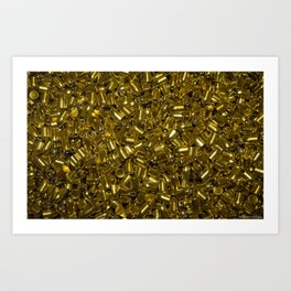 Not you Gold ! Let The Bullets Fly & Dry Art Print