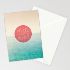 Wander don't Wonder Stationery Cards