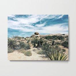 Desert Cactus Landscape Metal Print