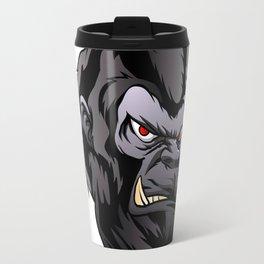 gorilla head illustration Travel Mug