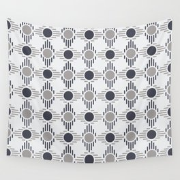 Geometric Pattern. Circles and Rhombuses Wall Tapestry