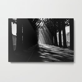 The Way to the Chapel BW Metal Print