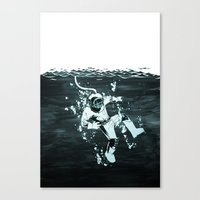 diver Canvas Prints featuring Diver by ghoste