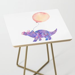 Tie-dye Triceratops Side Table