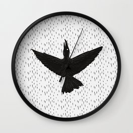 The ink crow Wall Clock