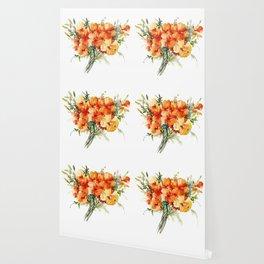 Californian Poppies, California Floral art soft colors Wallpaper