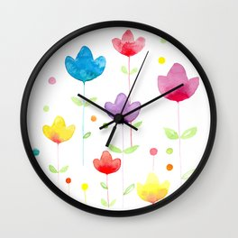 Flowers and joy Wall Clock