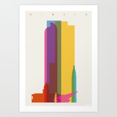 Shapes of Denver accurate to scale Art Print