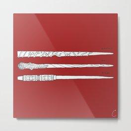 Wand Trio No.2 Metal Print