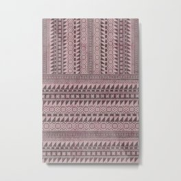 triangle kilim in pale pink Metal Print