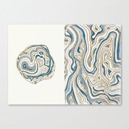 Polar Bear Lines Canvas Print