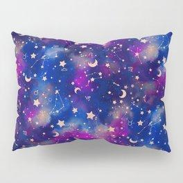 Zodiac - Watercolor Dark Pillow Sham