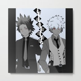 kiribaku black and white Metal Print