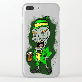 St Paddy's Zombie Clear iPhone Case