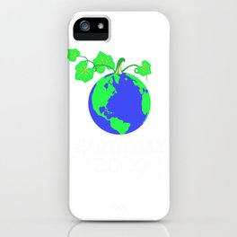 Happy Earth Day 2020 iPhone Case