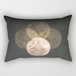 Full Moon Phase Retro Surreal Boho Lunar Mystical Illustration  Rectangular Pillow