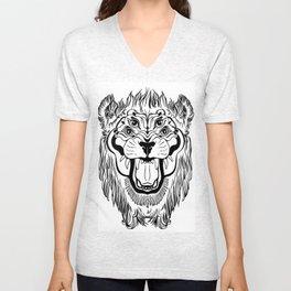 The Four Eyed Lion Unisex V-Neck