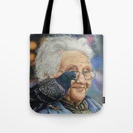 Pigeon Lady Tote Bag