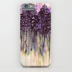 NORTHWEST VIBES Colorful Watercolor Painting Forest Trees Violet Green Modern Nature Art West Coast  iPhone 6 Slim Case