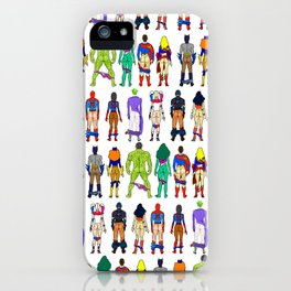 Superhero Butts - Power Couple on Grey iPhone Case