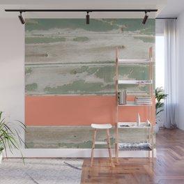 Wood Color Block Wall Mural
