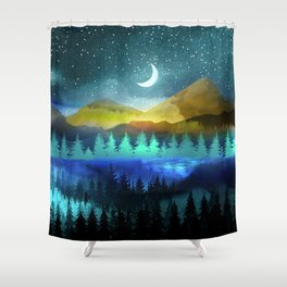 Silent Forest Night Shower Curtain