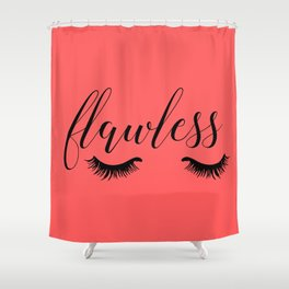 Flawless - Coral Shower Curtain