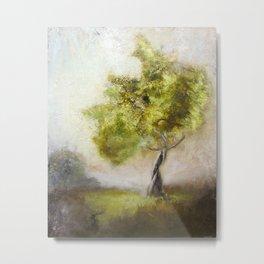 Windy Tree Metal Print