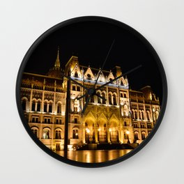 Parliament building in Budapest, capital of Hungary. Wall Clock