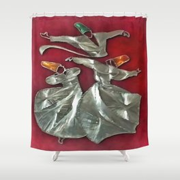 Entranced Sufis In Prayer Shower Curtain