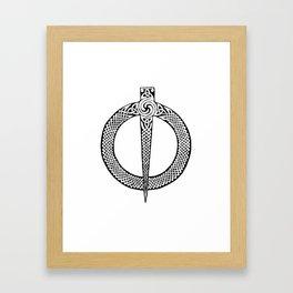 Celtic Pin Framed Art Print