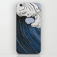 anxiety iPhone & iPod Skins featuring Anxiety by Ksenia Palfy