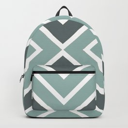 Chevron Gray & White Stripes Backpack