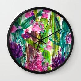 Fiesta Plants Wall Clock