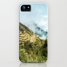 Lost City | Landscape Photography of Historical Incan City with Terraces in Peru Mountains iPhone Case