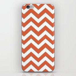 Medium vermilion - orange color - Zigzag Chevron Pattern iPhone Skin