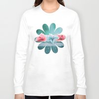 hydrangea Long Sleeve T-shirts featuring HYDRANGEA LOVE by INA FineArt