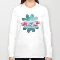 hydrangea Long Sleeve T-shirts featuring HYDRANGEA LOVE by VIAINA