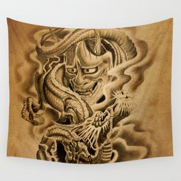 Hannya Dragon Wall Tapestry