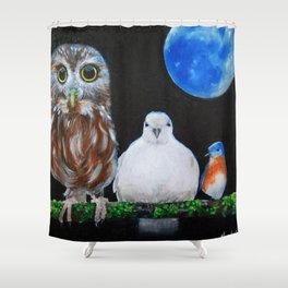 Wisdom Peace and Happiness Shower Curtain
